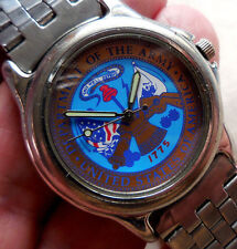 ANCIENNE MONTRE US ACCUTIME  COMMEMORATIVE OF THE ARMY-US OF AMERICA MIXTE