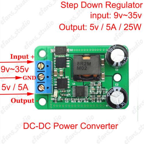 DC 24V to 5V 5A 25W Buck Converter Step-Down Voltage Regulator Car Power Supply