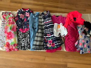Huge Lot Of 16 Pcs Of Girl S Clothes Summer Winter Mostly 5 6 Ebay