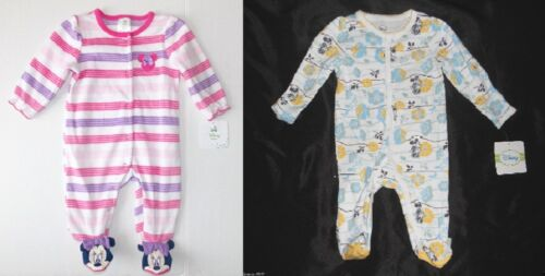 Disney Baby Minnie Mouse Infant Girls Sleepers 2 Choices Sizes 3M or 3-6 M NWT
