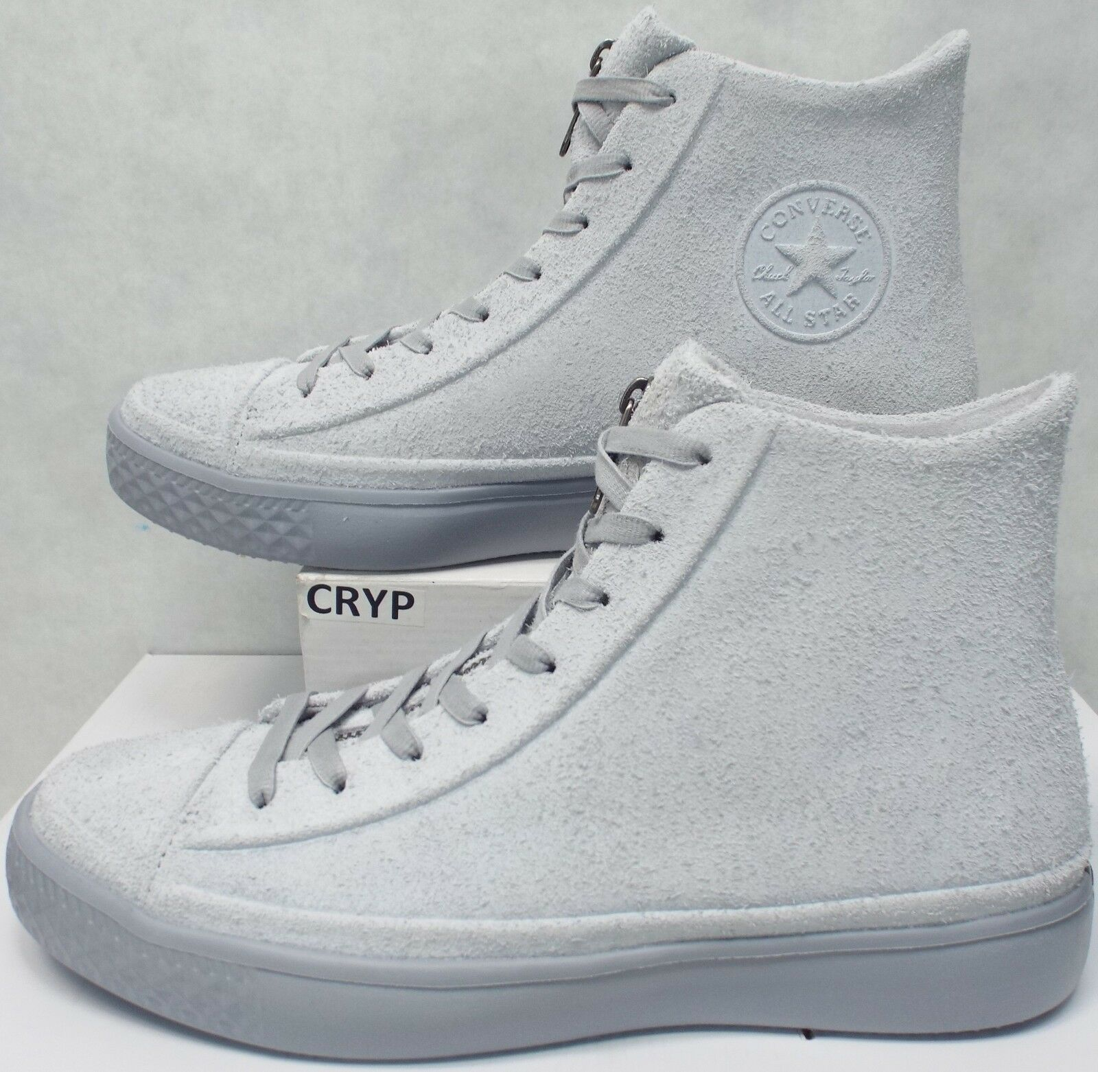Mens 10.5 Converse All Star CTAS Modern Hi Wolf Grey Leather shoes 158843C  110