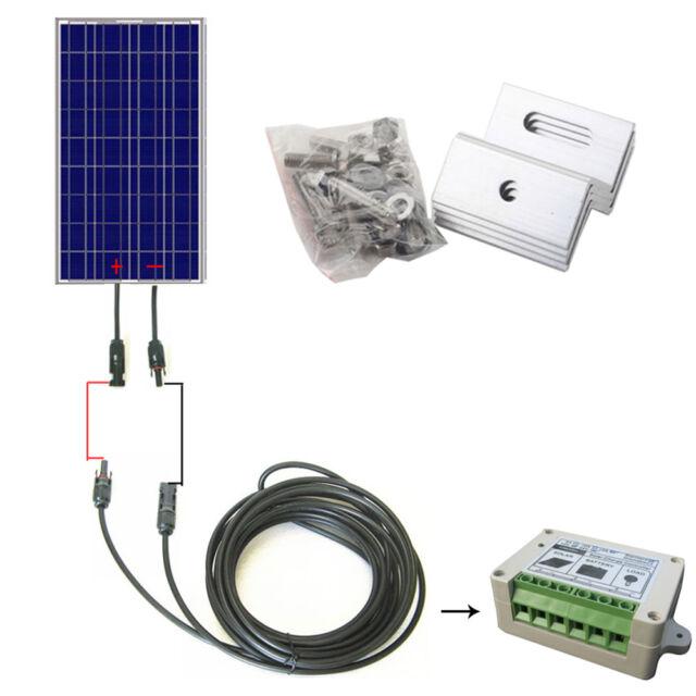 COMPLETE KIT:100W 100 Watts  PV Solar Panel 12V system RV Boat solar cell panel