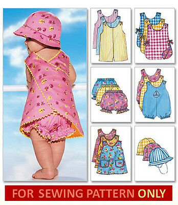 SEWING PATTERN! MAKES DRESS~HAT~PANTIES~ROMPER! BABY CLOTHES SIZE 8 TO 29 POUNDS