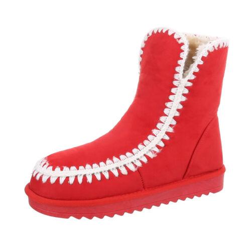 Gefütterte Stiefeletten Snowboots Damenschuhe 6930 Ital-design