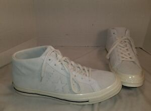 NEW CONVERSE ONE STAR OFF WHITE SUEDE MID TOP SNEAKERS SIZE MEN S ... 7f6cf820701