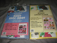 8 Pocket Kiddy Shoe Caddy Metal Hanger Animals Durable Vinyl Slippers