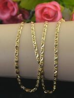 Womens Mens 18K Yellow Gold Plated Filled Necklace Chain Gift 16-30inch Jewelry