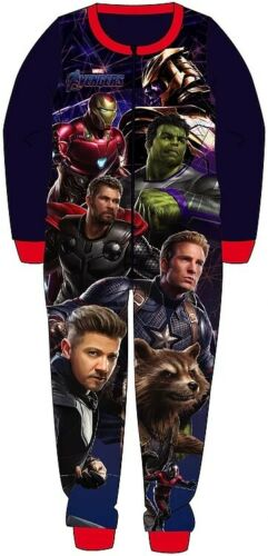 Boys Marvel Avengers All In One Piece Character Childrens Pyjamas Age 5-6 Years