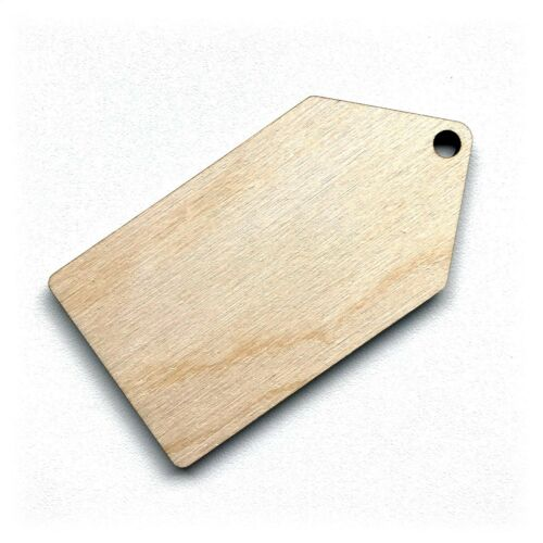 Wooden Birch Ply Luggage Gift Tag Shapes Tags Plaques Embellishments Decoration