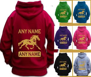 Personnalisé Équitation montrant Sweat à Capuche Enfants & Adulte Welsh type COB cheval-afficher le titre d`origine N4IdDzxI-07170555-269557362