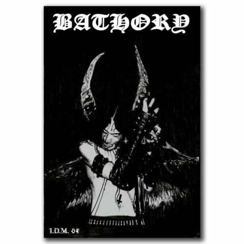 W072 Bathory Quorthon Heavy Metal Music Band Art Hot 12x18 24x36 FABRIC Poster