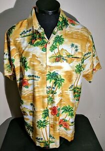 1a1bf70e79d8 Image is loading Vintage-Hawaiian-Print-Men-039-s-Shirt-Creations-