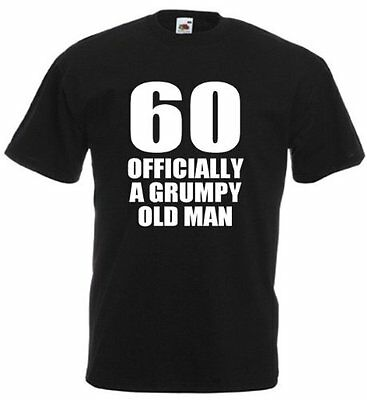 60 Officially T Shirt Mens 60th Birthday Gifts Presents Gift Ideas For Men Dad Ebay