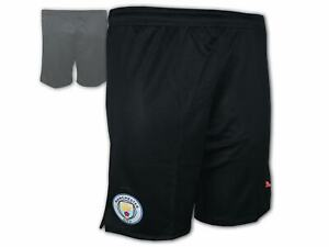 Puma-Manchester-City-Short-schwarz-MCFC-Home-Away-Fussball-Hose-Turnhose-S-3XL
