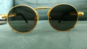 97ef9bfd47e5c Image is loading Vintage-Jean-Paul-Gaultier-56-8171-Gold-Sunglasses-