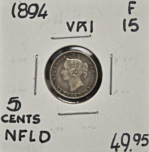 1894-Newfoundland-5-cents-F-15