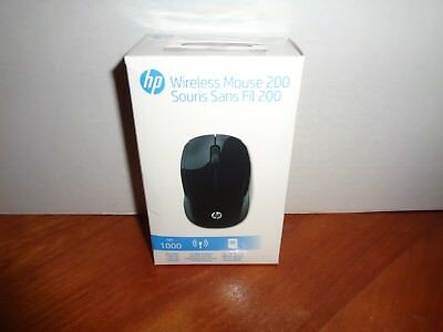 Genuine HP 200 Wireless USB Optical Mouse Black Nano Micro