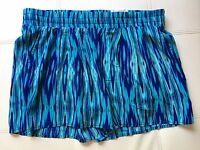 Jcp Jcpenny Womens A.n.a. Casual Shorts Blue Ikat Watercolor Size M