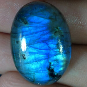 100-Natural-Blue-Fire-Labradorite-Oval-Cabochon-Loose-Gemstone-With-Best-Offer
