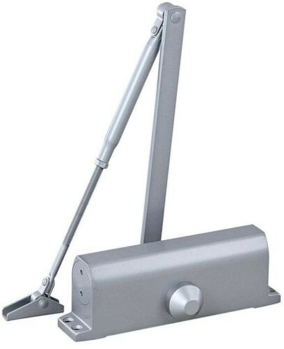 Automatic Door Closer Closure Commercial Surface Mounted Fixed Silver Size 3