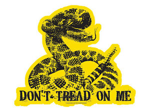 Don-039-t-Tread-On-Me-With-Detailed-Snake-Bumper-Sticker