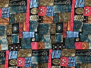 Sheryl-Roy-Abstract-Fabric-SSI-Tribal-Design-Quilting-Sewing-Crafts-28-x-41-034