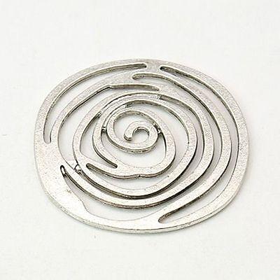 10pc Antique Silver Alloy Tibetan Style Rose Flower Pendants Necklace DIY Charms