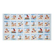 "Beach Kids - Seaside Memories - Powder Blue - 24"" x 44"" Quilting Panel"