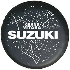 """Spare Tire Cover Series 29"""" SUZUKI GRAND VITARA Silver Metallic logo Tire Cover"""