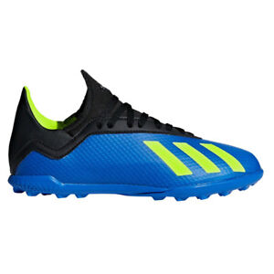 adidas-Kids-X-18-3-Turf-Soccer-Shoes-Footblue-Solar-Yellow-Core-Black-DB2422