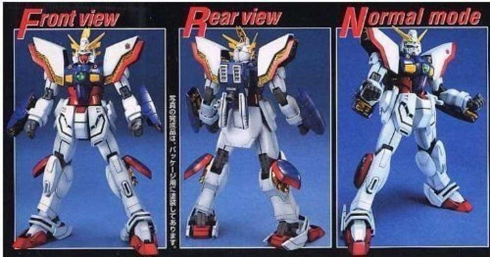 MG 1  100 GF13 -017 NJ Shining Gundam (bilen Fighter G Gundam) Gunpla från japan