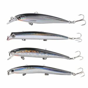 """7//8 oz Floating Gold Shimmer Minnow  4X VMC hooks Saltwater Lure   5/"""""""