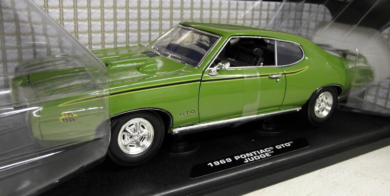 Welly 1/18 SCALA 73133 Pontiac GTO Judge 1969 Verde Modello Diecast Auto