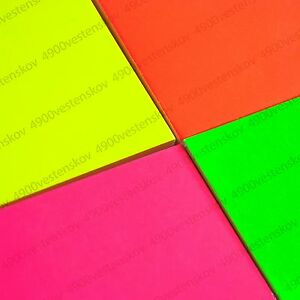 Image Is Loading Bright Neon Pink Orange Yellow Green Color Paper