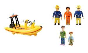 Fireman Sam Pequeño Empujar Vehículo & 5 Figuras Pack Playset de Juguete Lote