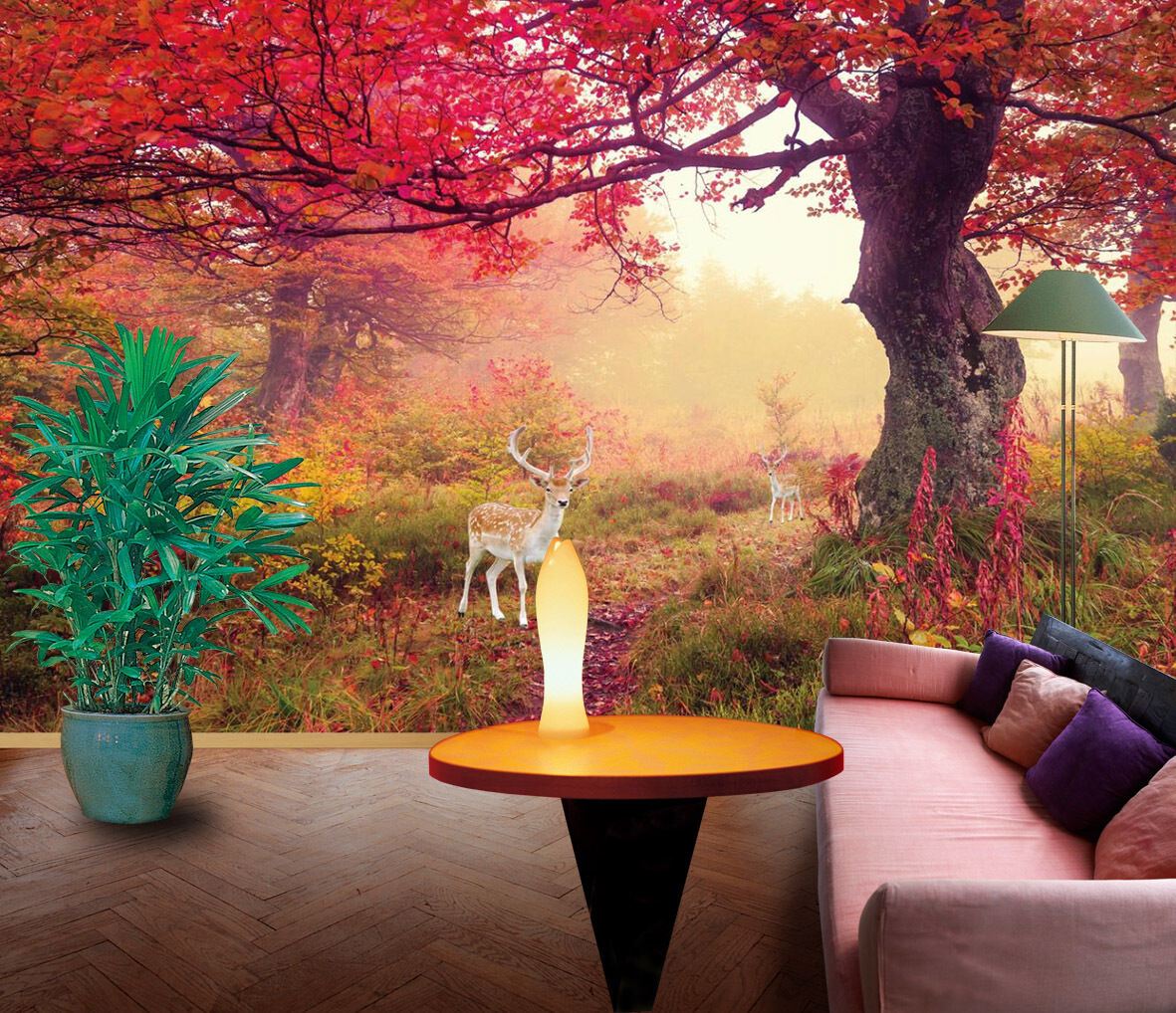 3D Pretty Trees Animals 1751 Paper Wall Print Wall Decal Wall Deco Indoor Murals