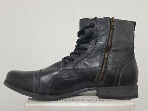 5f3639874ff Details about Steve Madden Triggah Black Leather Men's Fashion Boots Size 13