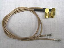 2 Stück Anschusskabel SMA Winkelstecker / Lötpfosten  40cm