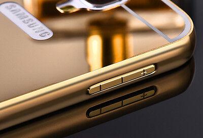Luxury Aluminum Metal Bumper Mirror PC Back Case For Samsung Galaxy S4 i9500