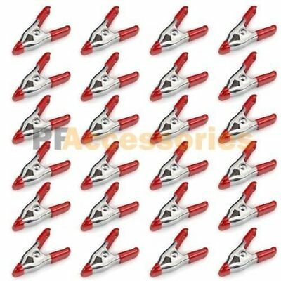 2//4//6 inch Mini Metal Spring Clamps w// Red Rubber Tips of Pcs Tool Pack 30 H1T7