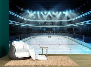 Ice Hockey Arena Rink Wall Mural Photo Wallpaper GIANT WALL DECOR