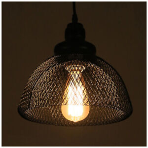 Vintage-Industrial-Metal-Cage-Wire-Frame-Loft-Ceiling-Pendant-Light-Lamp-Shades