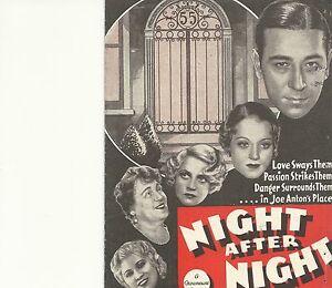 NIGHT-AFTER-NIGHT-1932-GEORGE-RAFT-MAE-WEST-ORIGINAL-PRESSBOOK-HERALD