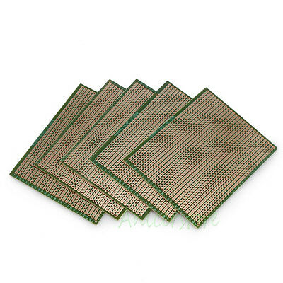 5x 70mm*90mm Soldering Prototype Copper PCB Printed Circuit Board US Shipping