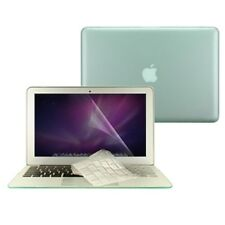 """3 in 1 Rubberized GREEN Case for Macbook AIR 13"""" A1369 + Key Cover + LCD Screen"""