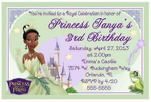 Details About Princess Tiana And The Frog Birthday Invitations Design