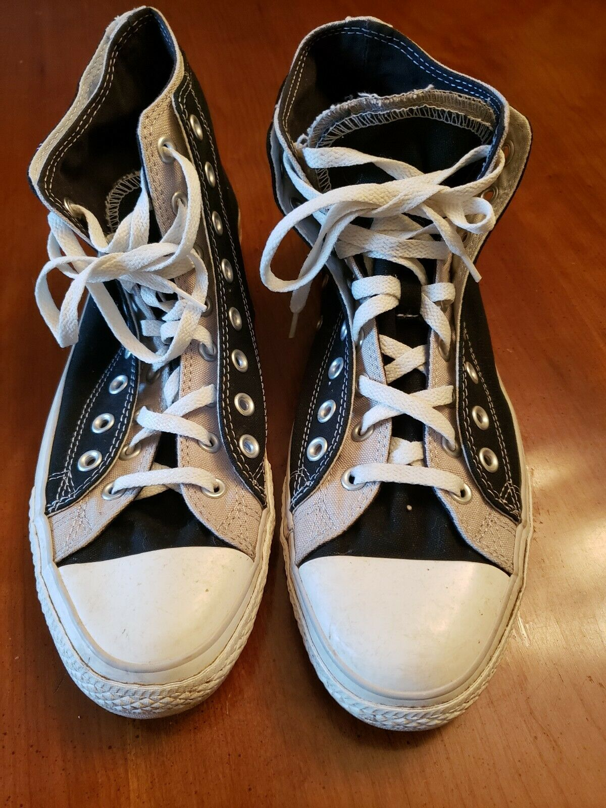 Converse Chuck Taylor All Star High Top Tennis shoes Black Grey  Mens 13 105662F