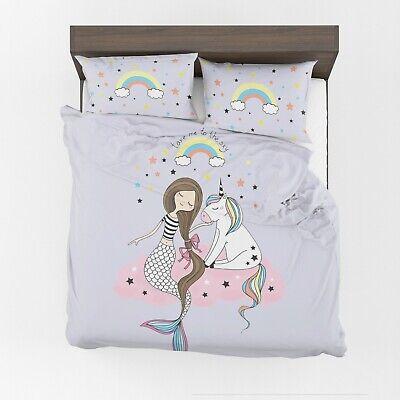 Mermaid Unicorn Duvet Cover Or, Mermaid Bedding Twin