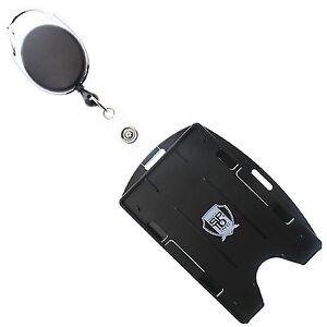 Multi-Card-ID-Holder-Vertical-or-Horizontal-amp-Retractable-Carabiner-Badge-Reel