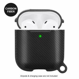 Apple Airpods 1 2 Wireless Charging Case Cover Full Protection Carbon Black Ebay